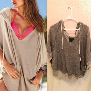 Victoria's Secret Gray terry cloth poncho